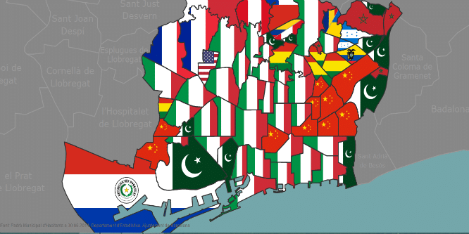 El Mapa De Barcelona Segun Nacionalidades Barcelona Secreta