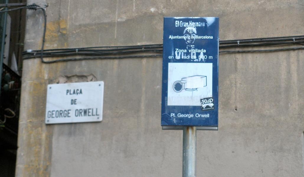 Resultado de imagen de videovigilancia plaza george orwell