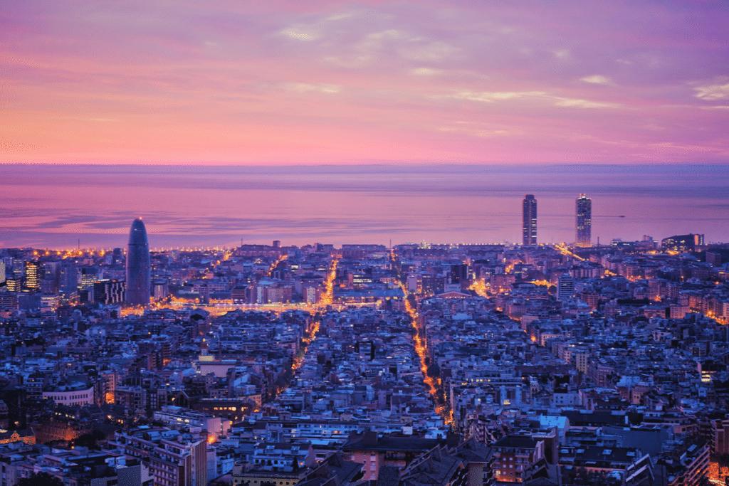 puesta de sol barcelona